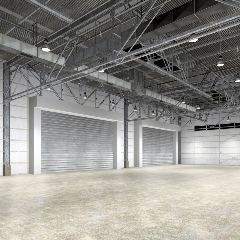warehouse interior obj