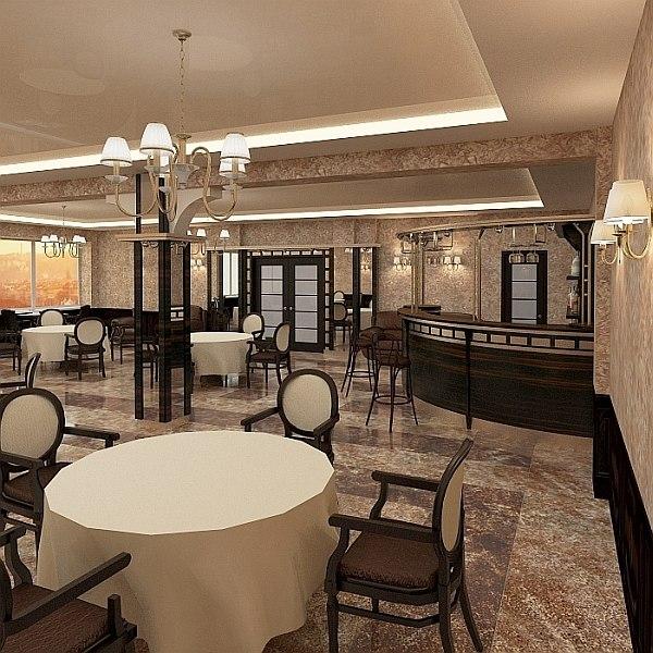 3d bar interior model