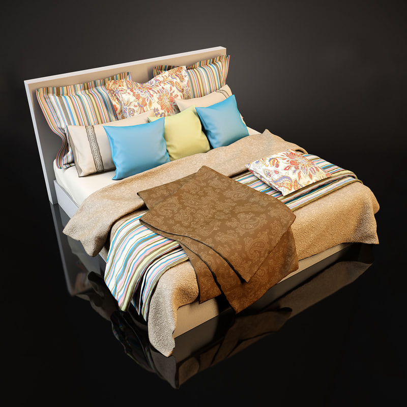 3ds max bedcloth bed