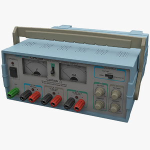 3d model digital multimeter tektronix cps250