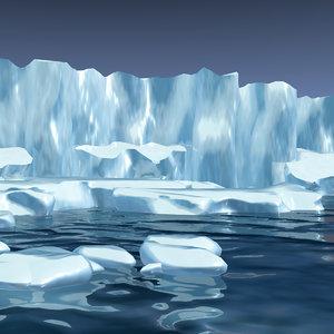 iceberg ice berg 3d 3ds