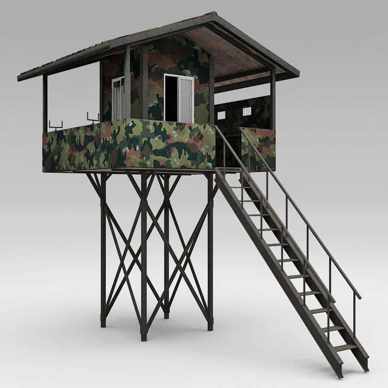 guard tower 5 3d model
