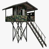 guard tower 5 3d model