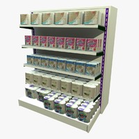 3ds max kitchen towel shopping shelf