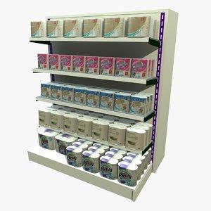 3ds max kitchen towel shopping shelf