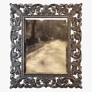 3dsmax old iron mirror