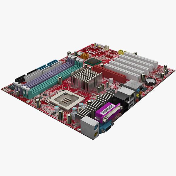motherboard msi 865pe neo3 3d c4d