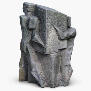 memorial sculpture odessa 3d model