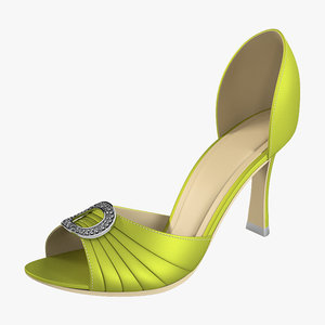 manolo blahnik open shoes 3d model