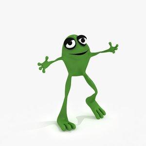 cartoon frog rig 3d max