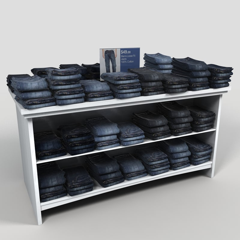 3d table mens jeans model