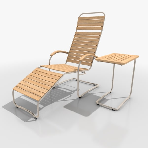 3d cantilever lounger set stainless steel