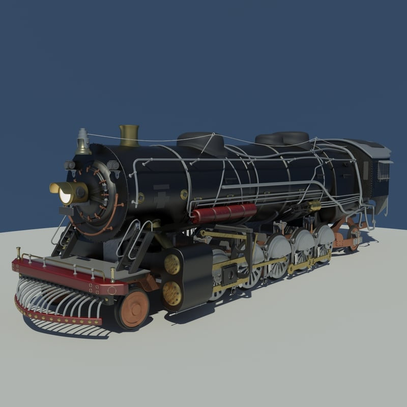 3d train locomotive model