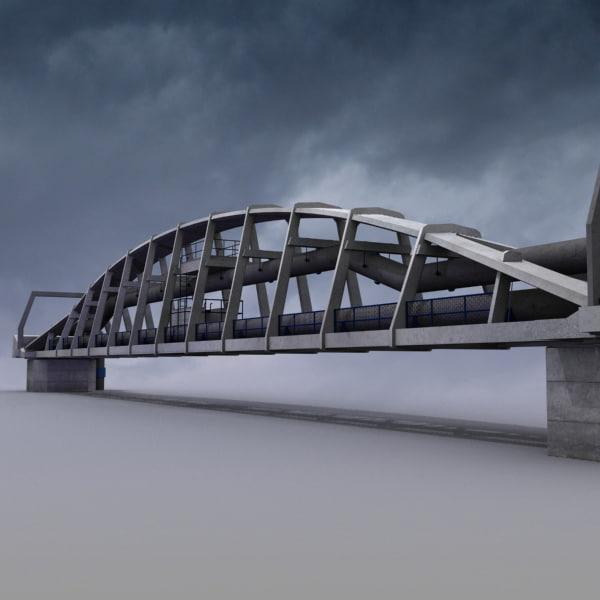 3ds max preston pipe bridge