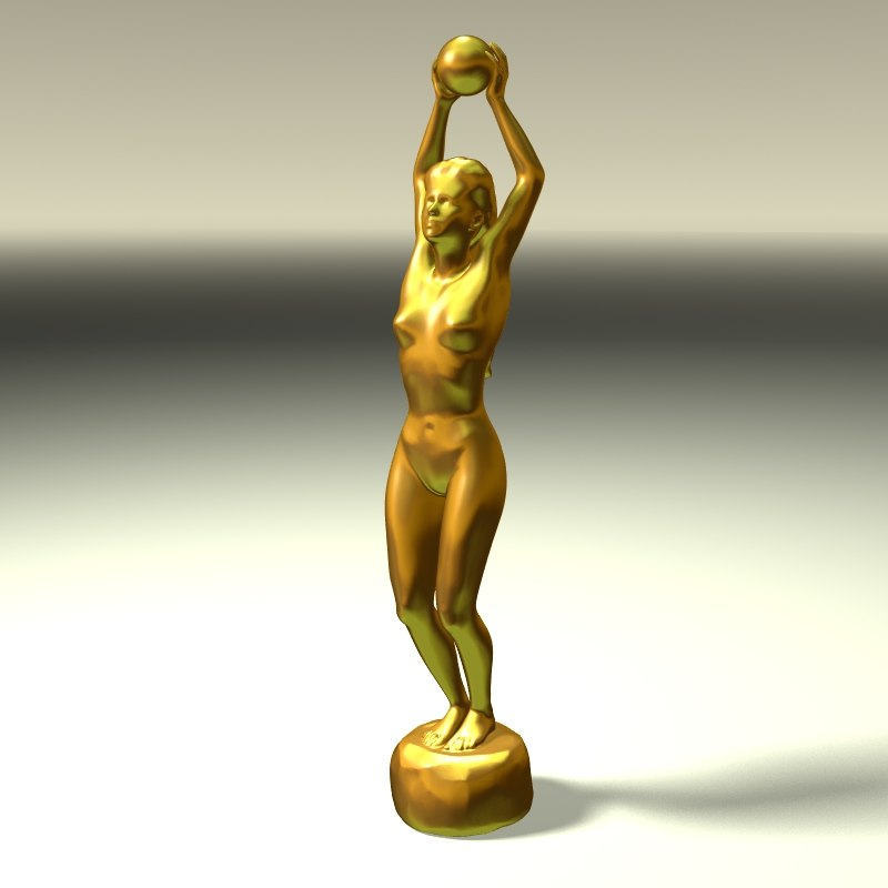 3d model female body sculpture