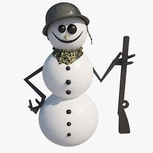 soldier snowman 3d max