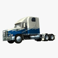3d model mack vision truck sleeper
