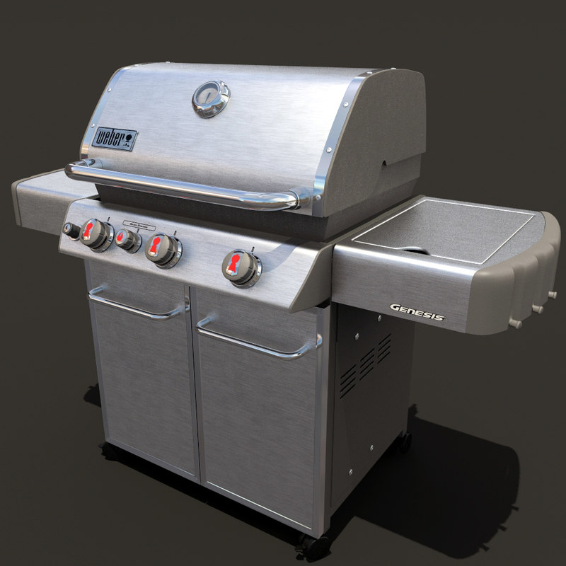 weber genesis barbeque grill 3d max