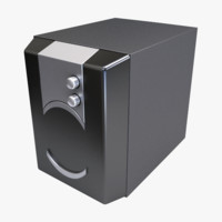 3ds max subwoofer speaker music studio