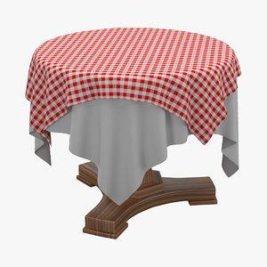 rustical table 3d max