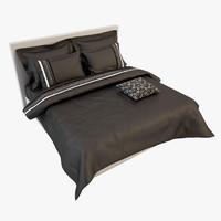 bedcloth bed 3d obj