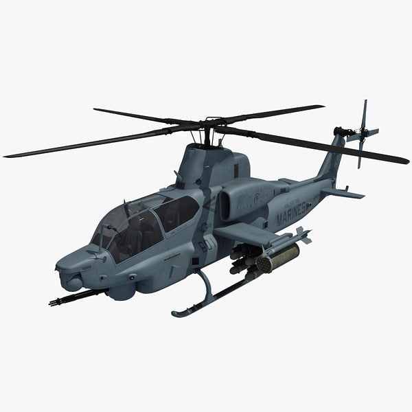 bell ah-1z viper attack helicopter 3ds