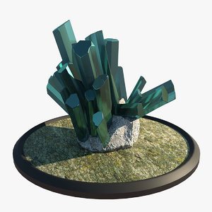 natural crystal 3d model