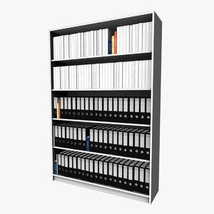 3d model of file storage shelving