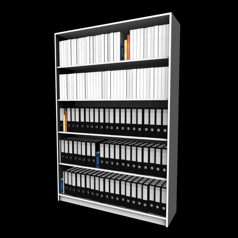 3d model of file storage shelving