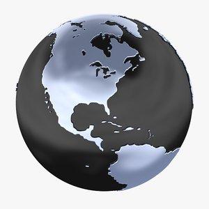 globe earth planet 3d model