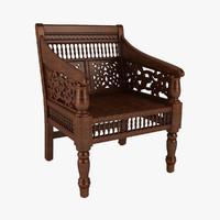 Hand Carved Maharaja Chair