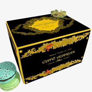 cakes box macarons 3d max