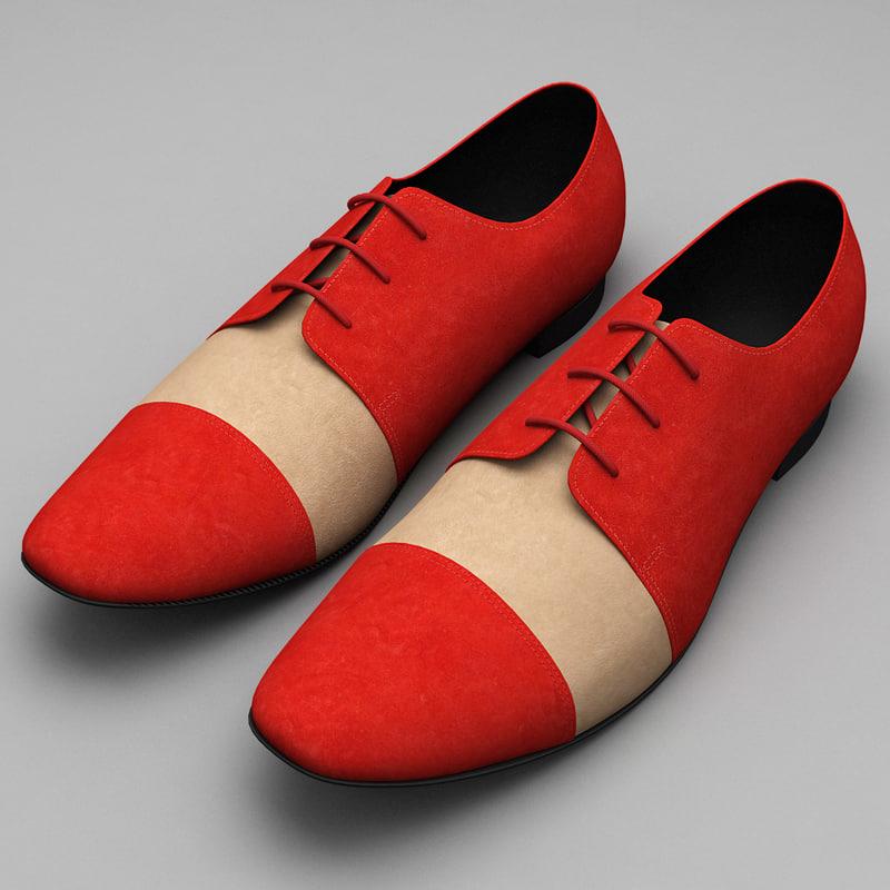 3d model men shoes ana locking