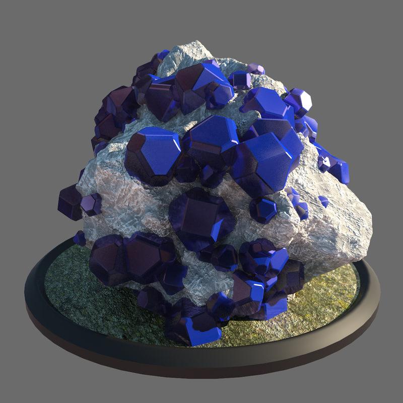 natural crystal 3d max