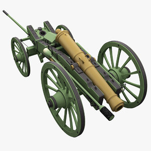 napoleons 12-pdr gribeauval field 3d model
