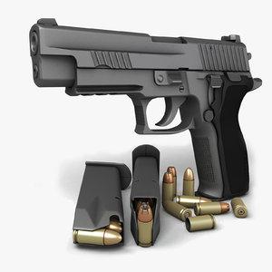 3dsmax sig sauer p226 pistols