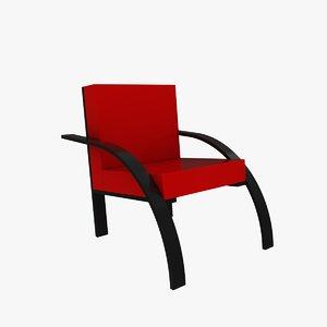 3ds max parigi chair design