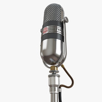 3d model rca 77-dx microphone