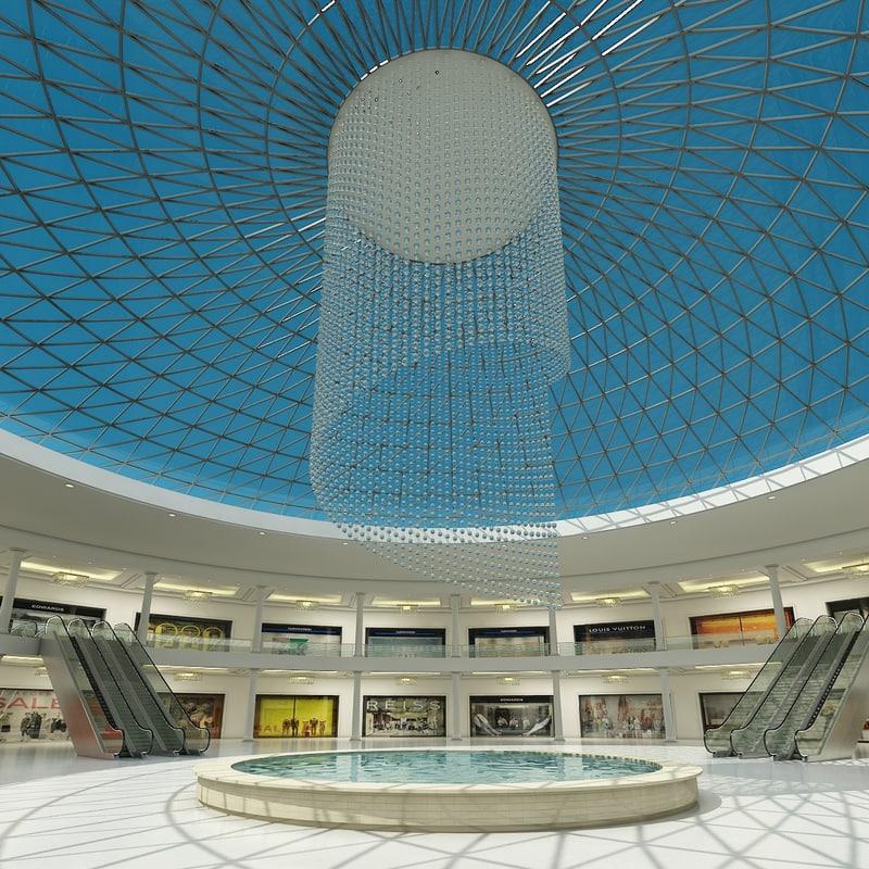 3d model shopping mall 5