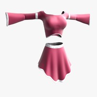 princess dress female 3d x