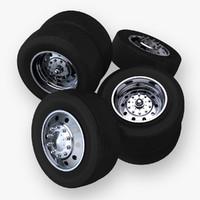truck wheels 3d c4d