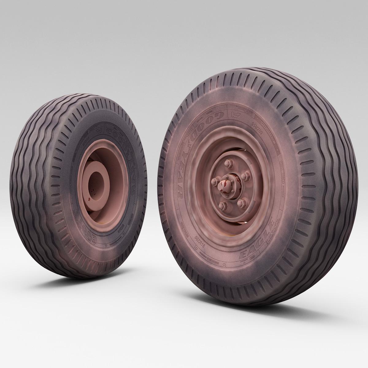 3d model truck wheel 3