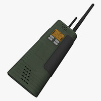 3d two-way radio model