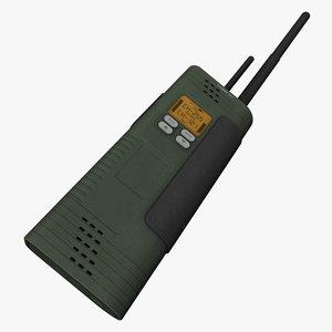 3d two-way radio model