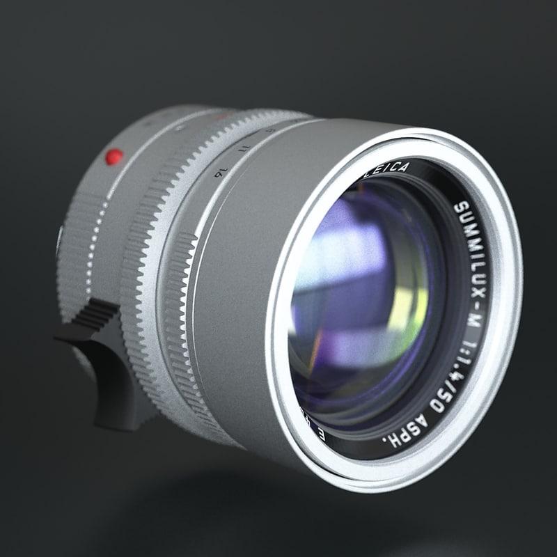 lens leica summilux-m 50mm 3d max