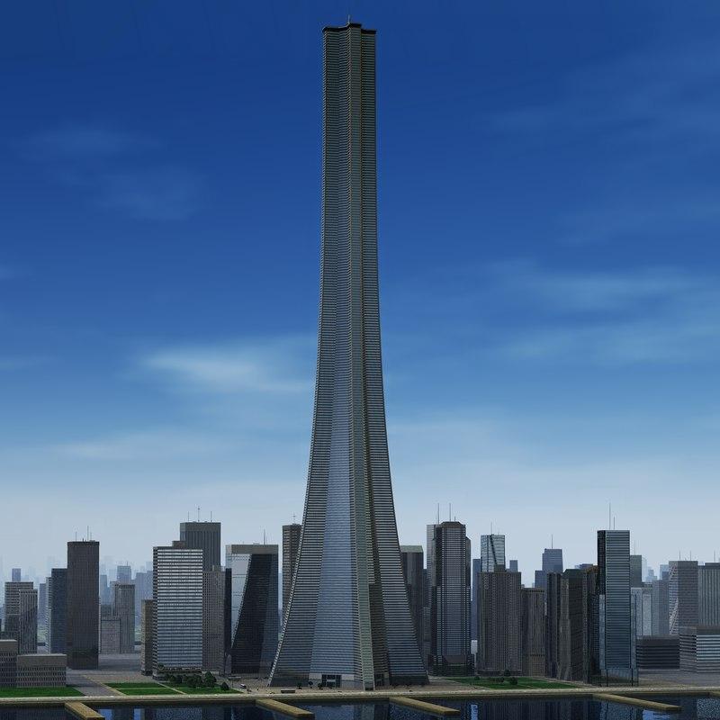 tall building 3d xsi