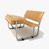 school desk 3d model