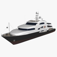 yacht architectural 3d model