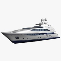 3d medium yacht model