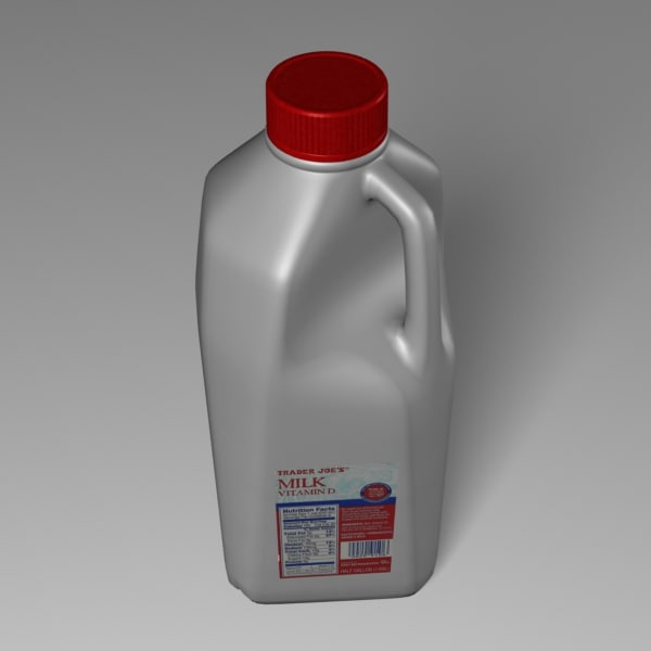 milk container 3d model